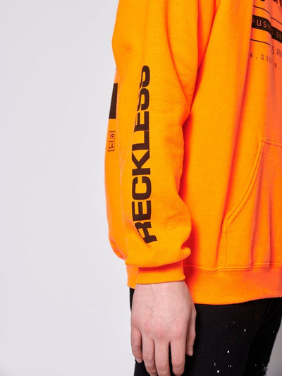Young and Reckless Mens - Fleece - Hoodies Latitude Hoodie - Neon Orange