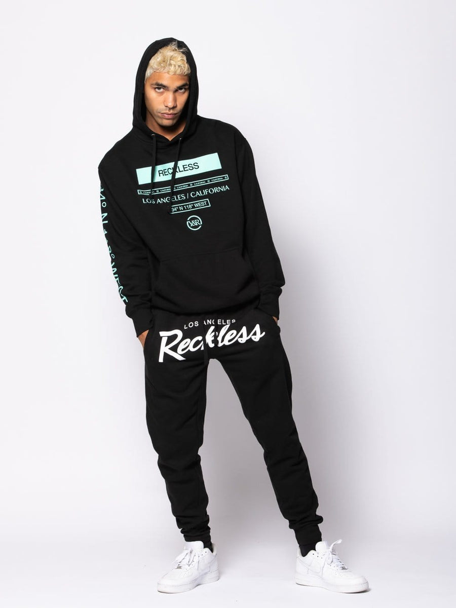 Young and Reckless Mens - Fleece - Hoodies Le Grand Hoodie - Black