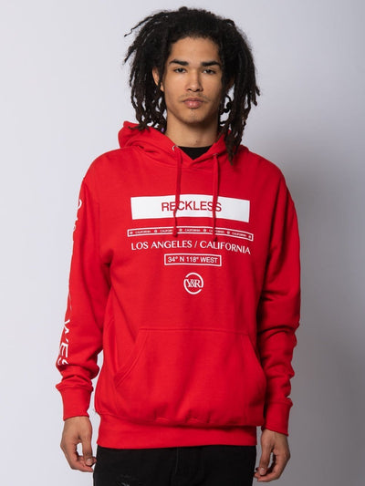 Young and Reckless Mens - Fleece - Hoodies Le Grand Hoodie - Red