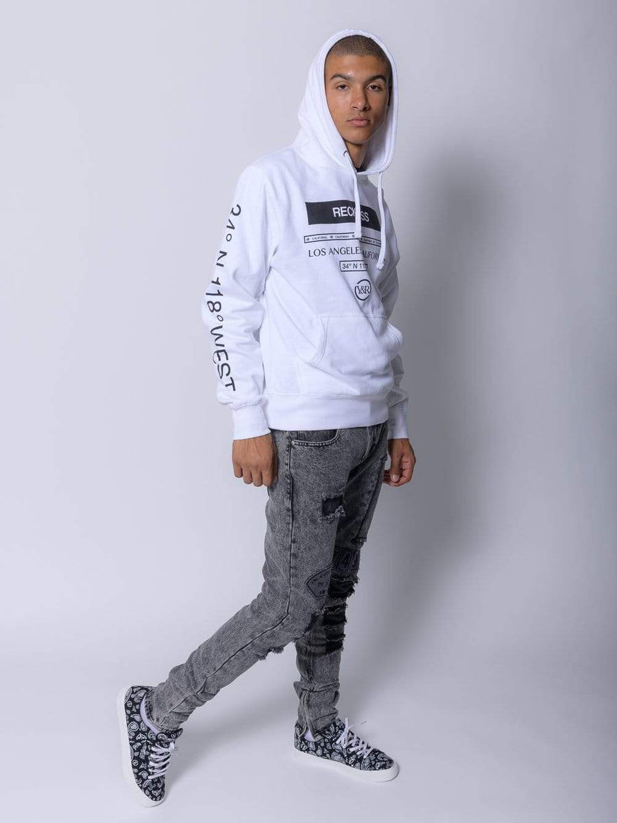 Young and Reckless Mens - Fleece - Hoodies Le Grand Hoodie - White