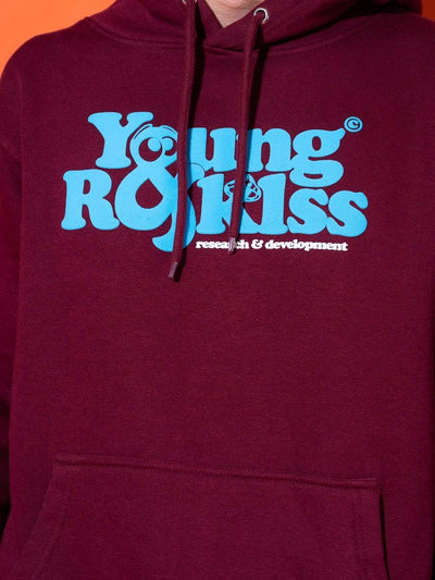 Young and Reckless Mens - Fleece - Hoodies R & D Hoodie - Burgundy