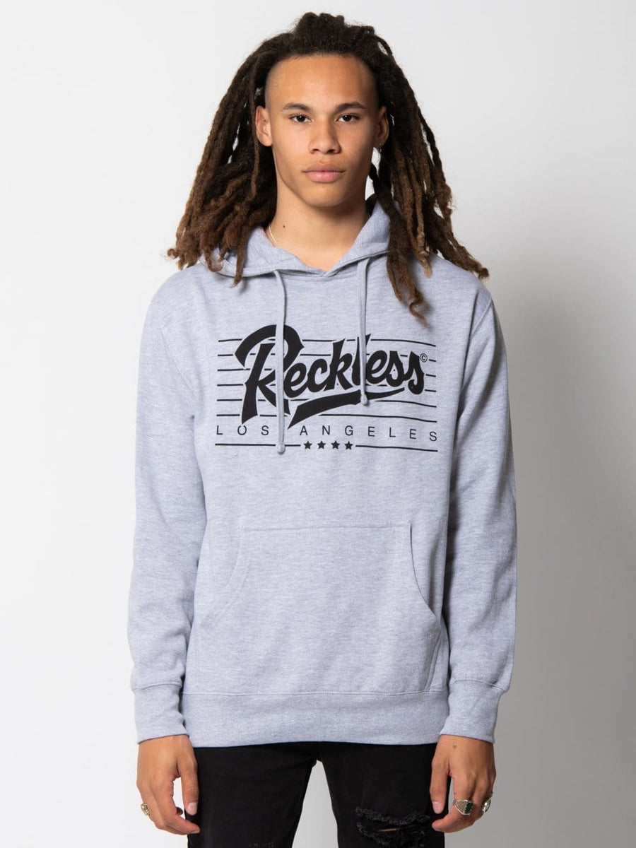 Young and Reckless Mens - Fleece - Hoodies Speed Lines Hoodie - Heather Grey S / HEATHER GREY