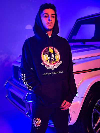 Young and Reckless Mens - Fleece - Hoodies Y&R x FaZe Rug See The Light Hoodie - Charcoal
