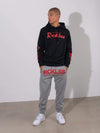 Young and Reckless Mens - Fleece  Sweatpants - Breakout Sweatpants - Grey and Red