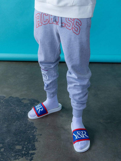 Young and Reckless Mens - Fleece - Sweatpants Distinct Sweatpants - Grey