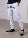 Young and Reckless Mens - Fleece  Sweatpants - OG Reckless Sweatpants - White and Black