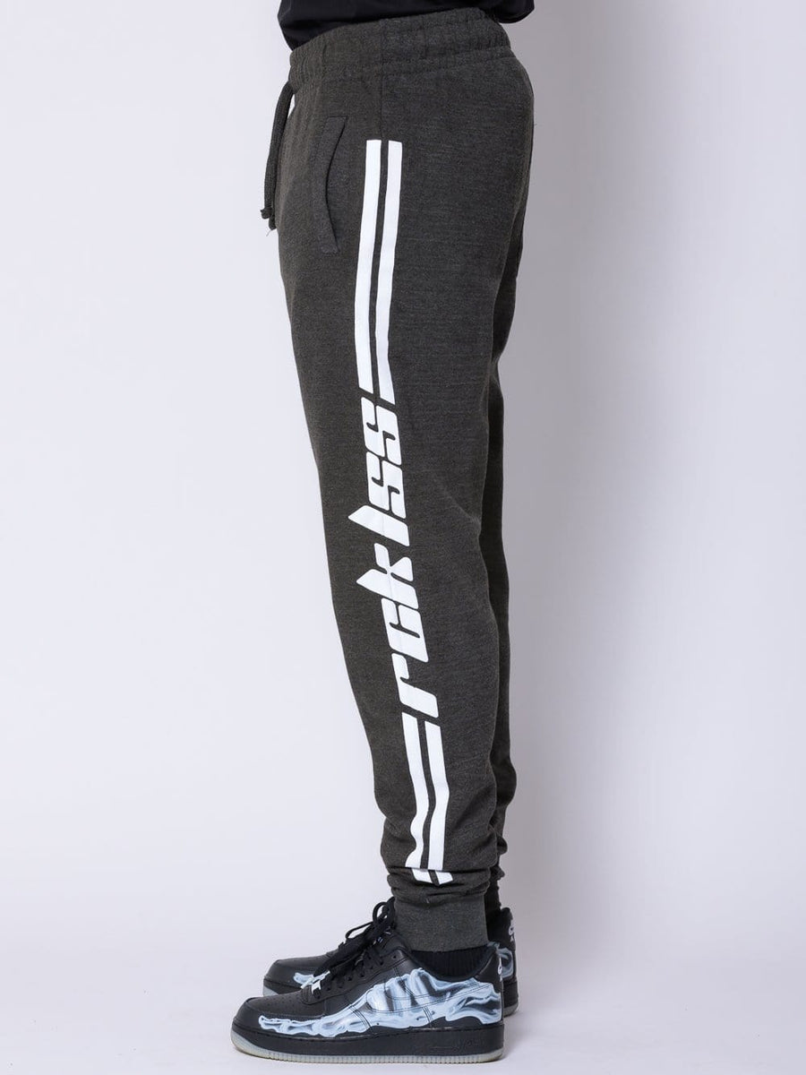 Racer Sweatpants - Grey/White
