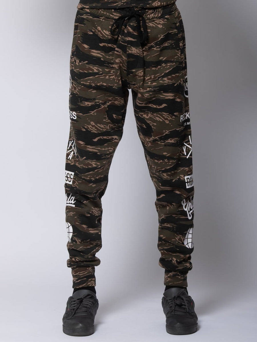 Young and Reckless Mens - Fleece - Sweatpants Recruit Sweatpants - Tiger Camo