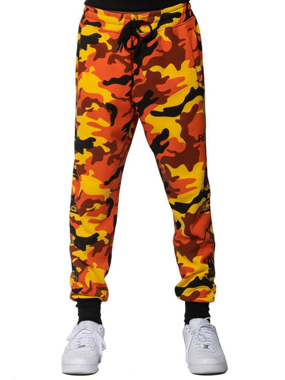 Young and Reckless Mens - Fleece - Sweatpants Tango Sweatpants - Orange Camo