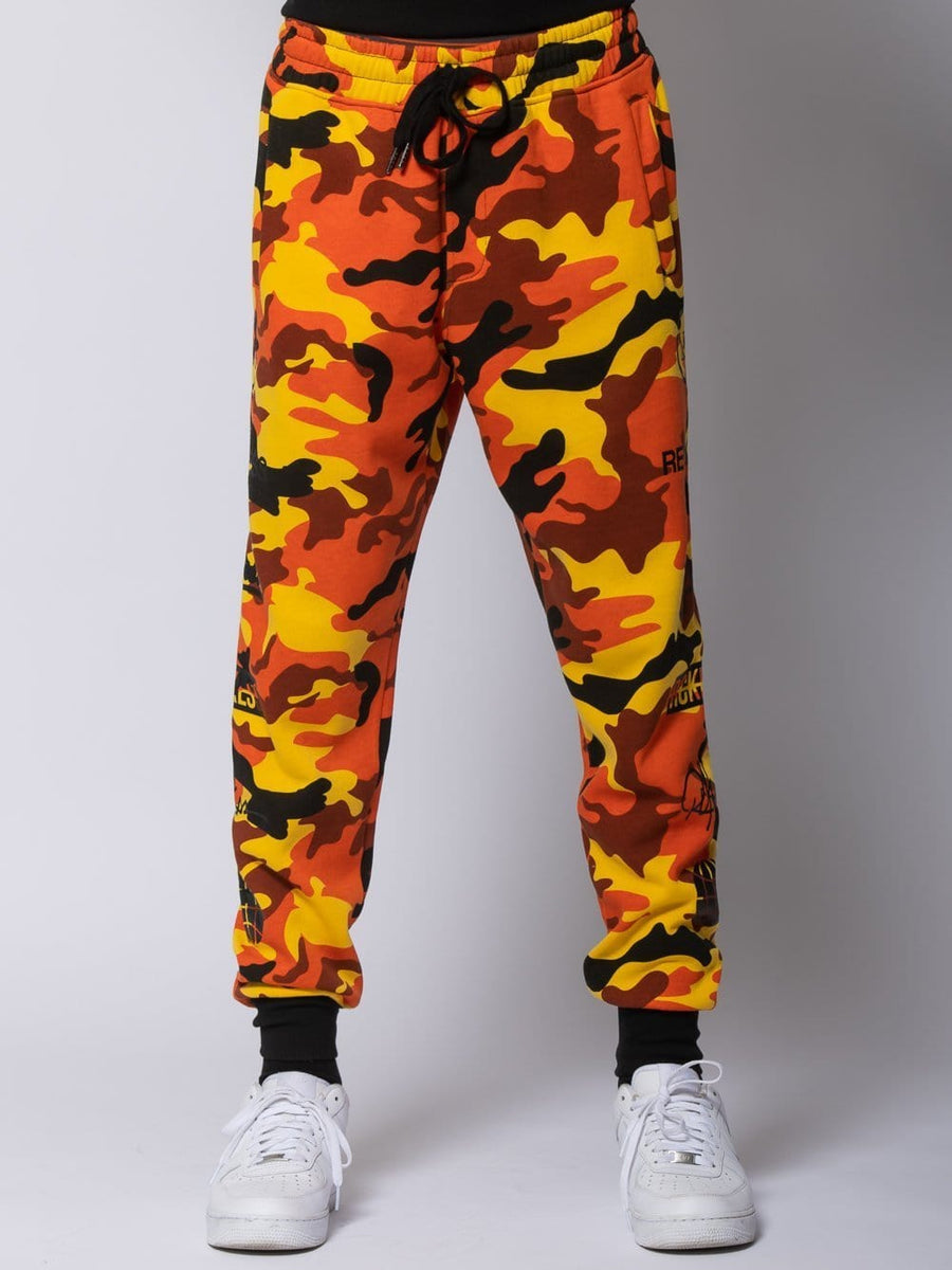 Tango Sweatpants - Orange Camo