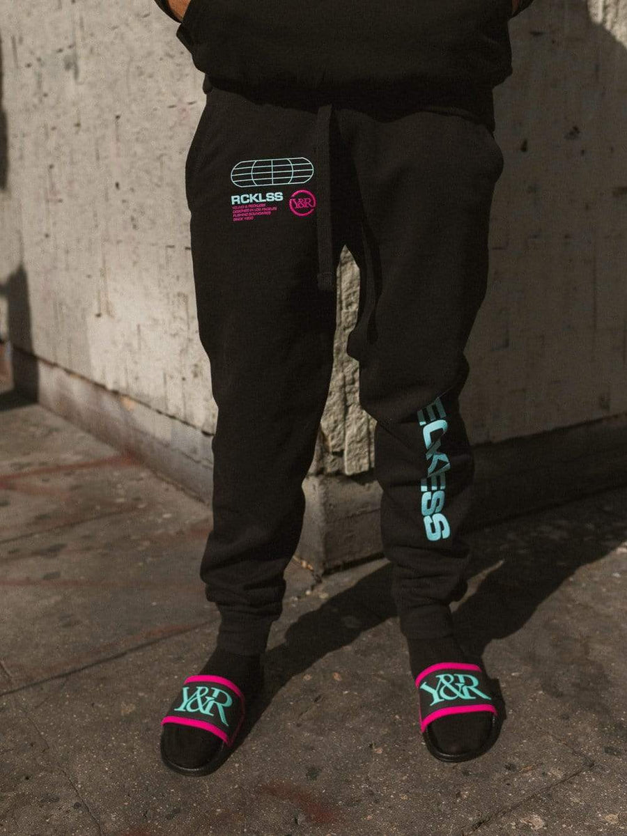 Trespass Sweatpants - Black/Ice