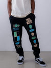 Young and Reckless Mens - Fleece - Sweatpants Vibrations Sweatpants - Black