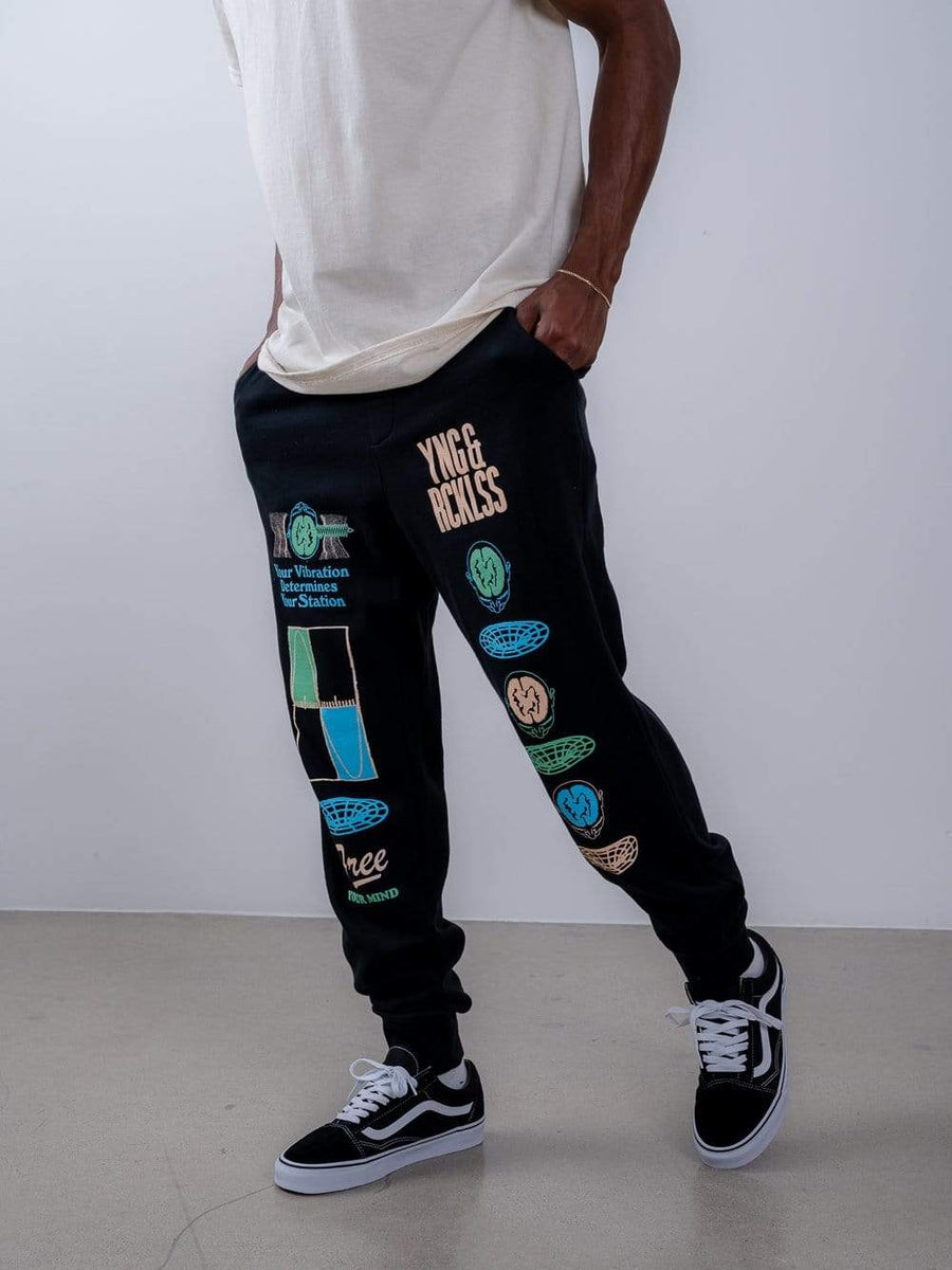 Vibrations Sweatpants - Black