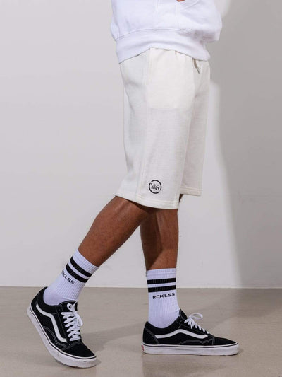 Young and Reckless Mens - Fleece - Sweatshorts Classic Sweatshorts - White