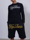 Young and Reckless Mens - Fleece - Sweatshorts OG Reckless Outline Sweatshorts - Black/Gold