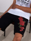 Young and Reckless Mens - Bottoms - SweatShorts - Rosebud Sweatshorts - Black