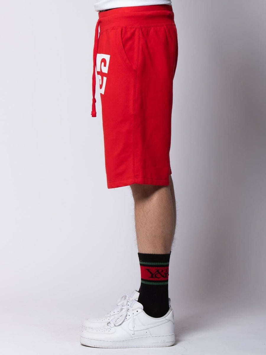 Strike Box Sweatshorts - Red