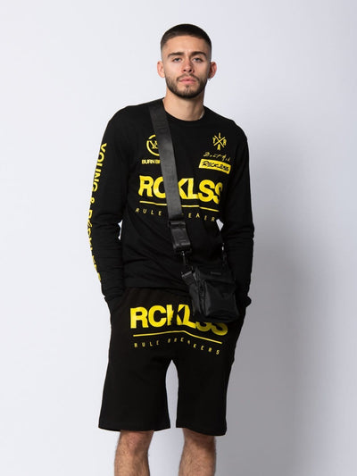 Young and Reckless Mens - Fleece - Sweatshorts Velocity Sweatshort - Black