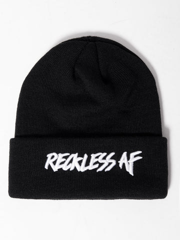 Young and Reckless Mens - Headwear - Beanie Reckless AF Beanie - Black