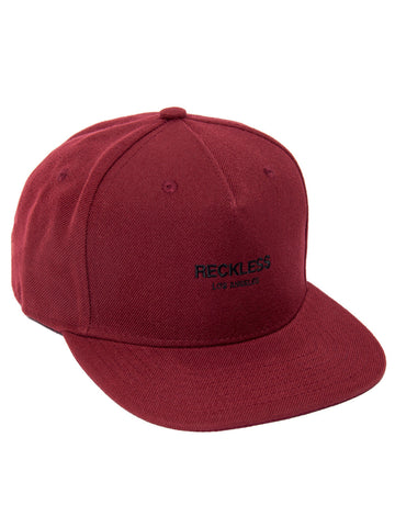 Young and Reckless Mens - Headwear - Snapback Classic Snapback- Burgundy