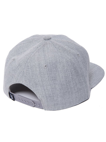 Classic Snapback- Heather/White