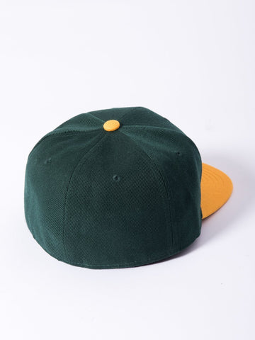 Olde R Fitted Hat - Green/Yellow