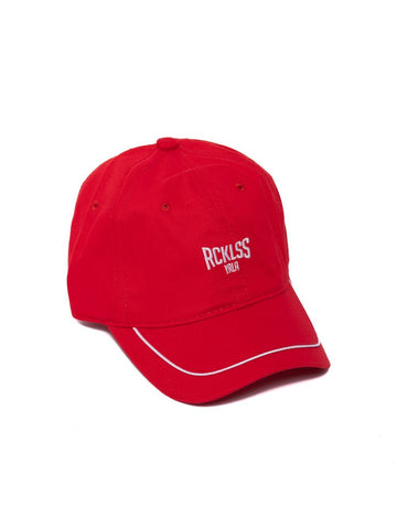Concave Dad Hat - Red/White