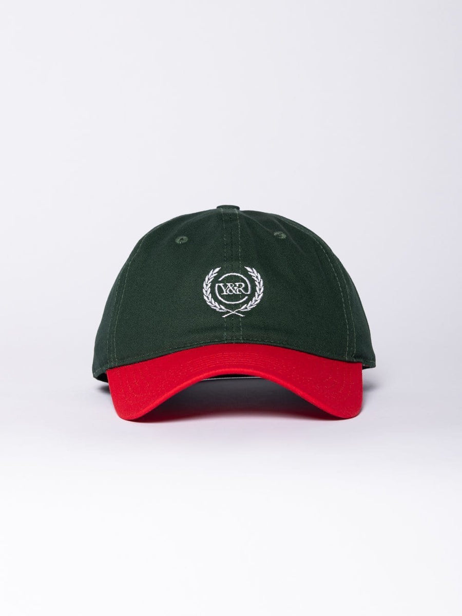 Young and Reckless Mens - Headwear - Strapped Crest Dad Hat - Green/Red OS / GREEN/RED