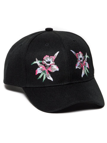 Young and Reckless Mens - Headwear - Strapped Floret Satin Dad Hat- Black