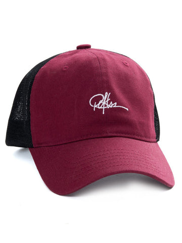 Young and Reckless Mens - Headwear - Strapped Signature Trucker Hat - Maroon