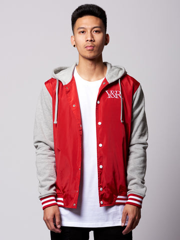 Young and Reckless Mens - Outerwear - Bombers / Jackets Manchester Varsity Jacket- Red