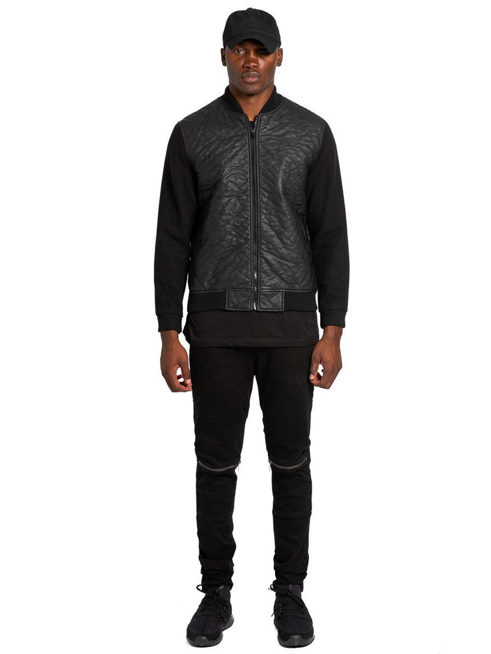 Young and Reckless Mens - Outerwear - Bombers / Jackets Radford Bomber Jacket- Black
