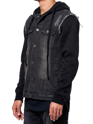 Young and Reckless Mens - Outerwear - Bombers / Jackets Rebel Denim Jacket- Black