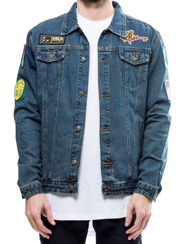 Young and Reckless Mens - Outerwear - Bombers / Jackets Street Veteran Denim Jacket