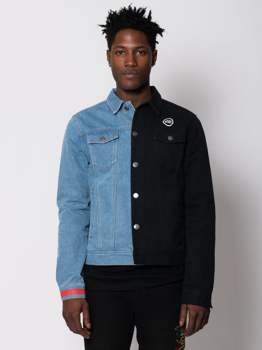 Young and Reckless Mens - Outerwear Duality Denim Jacket - Black/Blue