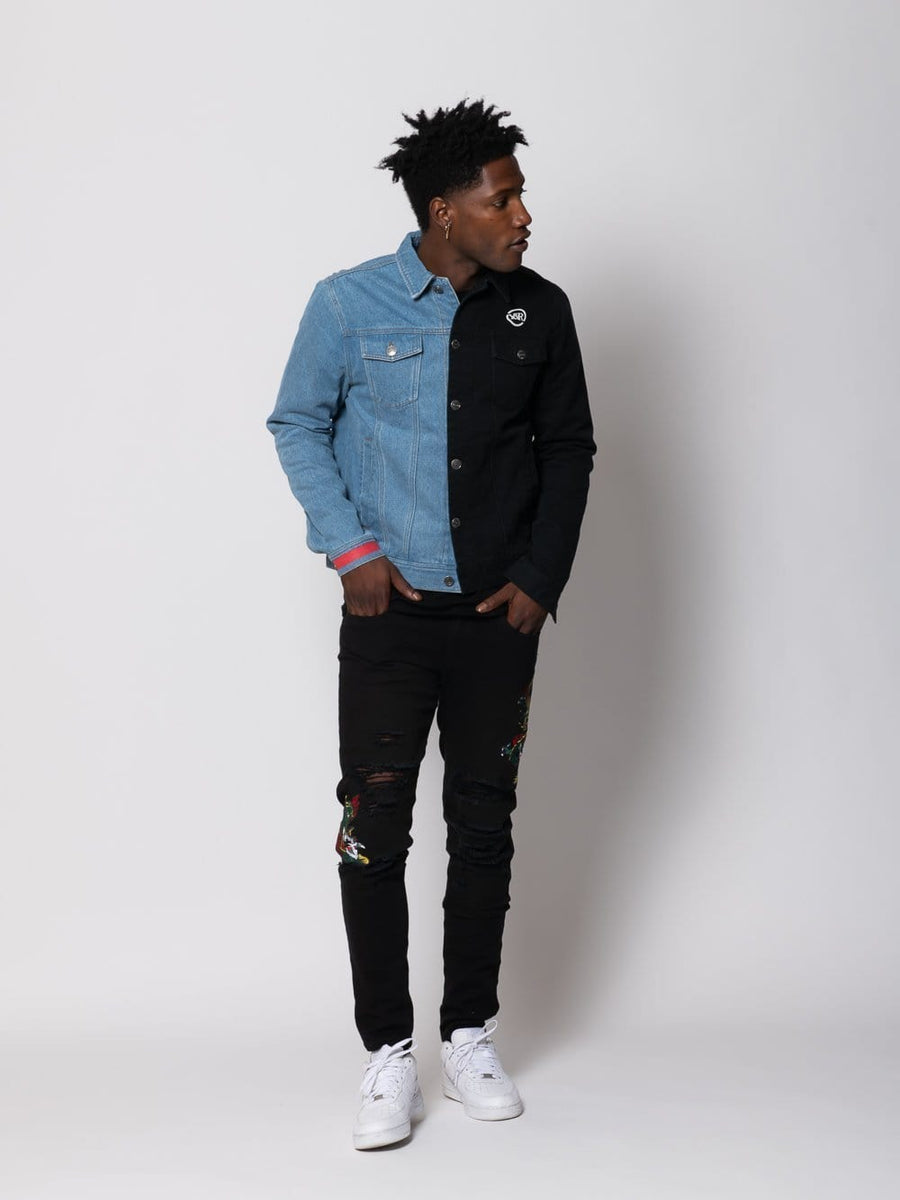 Duality Denim Jacket - Black/Blue