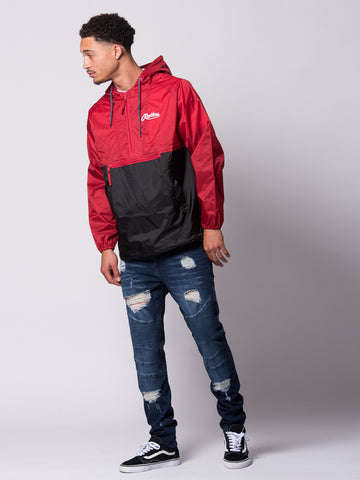 Young and Reckless Mens - Outerwear - Lightweight Jacket Confirmed Windbreaker- Black/Red