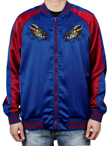 Young and Reckless Mens - Outerwear - Lightweight Jacket Ronin Souvenir Jacket- Blue