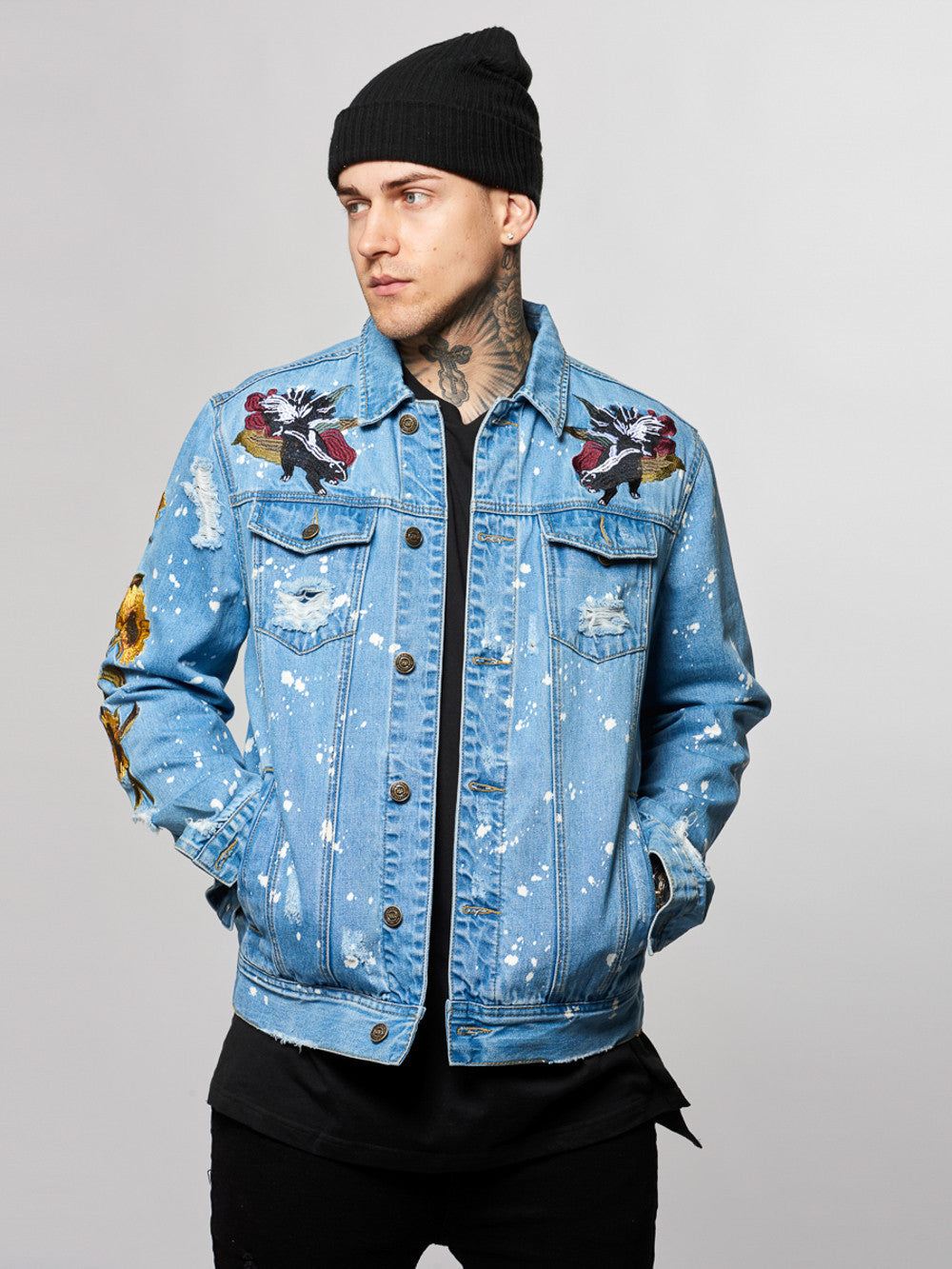 Young and Reckless Mens - Outerwear - Lightweight Jacket Soto Denim Jacket- Indigo