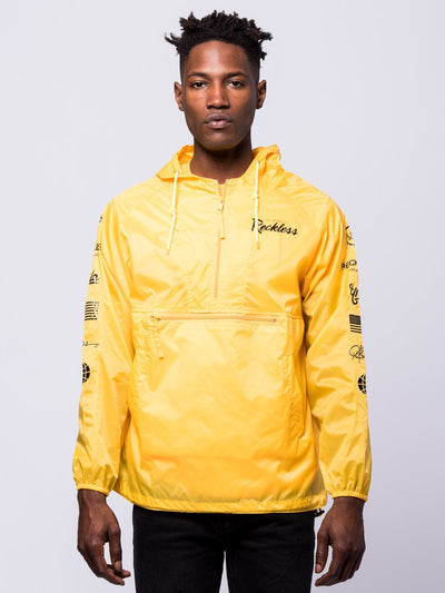 Young and Reckless Mens - Outerwear - Lightweight Jackets / Bombers Circuit Windbreaker - Yellow
