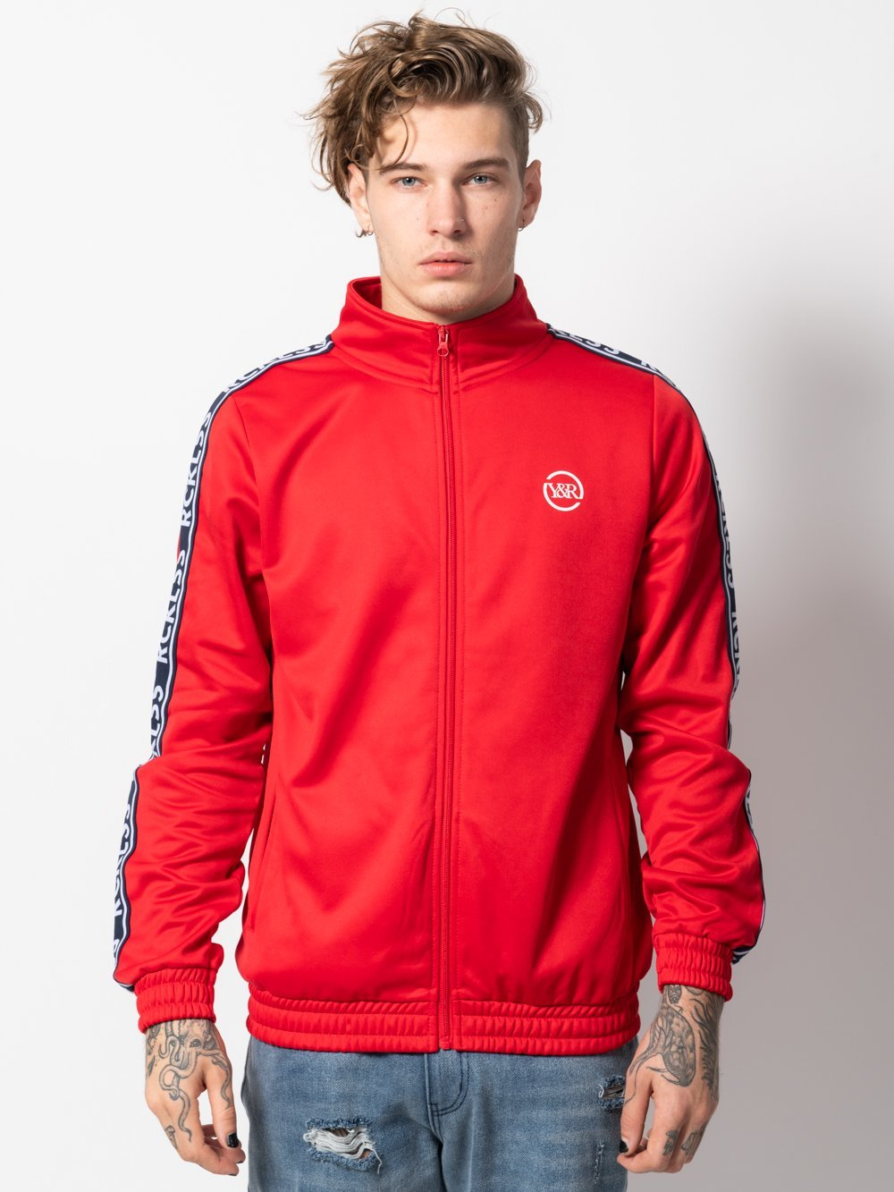 Young and Reckless Mens - Outerwear - Lightweight Jackets / Bombers Discord Track Jacket - Red