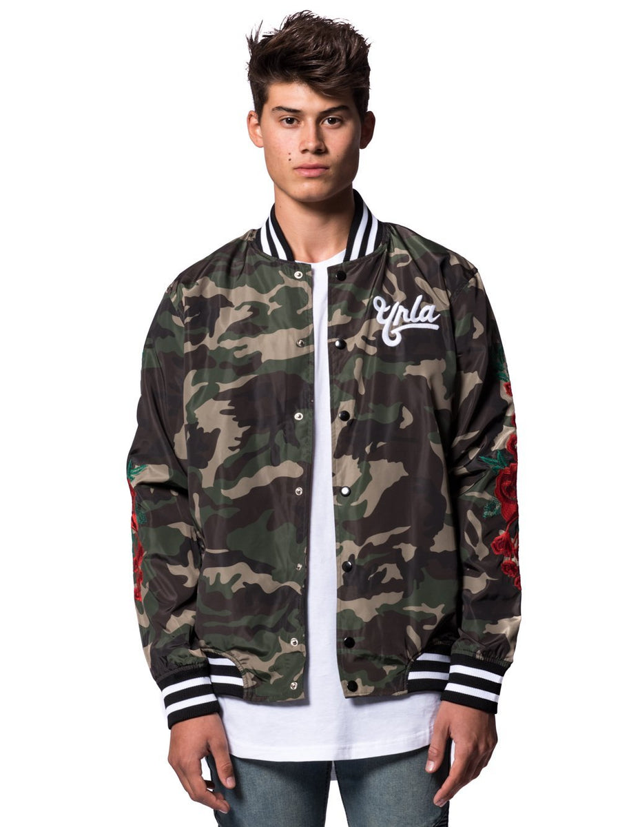 42b359bd70eae Young and Reckless Mens - Outerwear - Lightweight Jackets / Bombers Hawker Bomber  Jacket- Camo