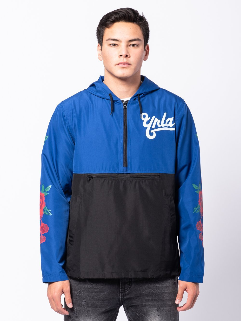 Young and Reckless Mens - Outerwear - Lightweight Jackets / Bombers Hawker Windbreaker - Blue/Black