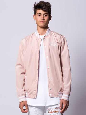 Young and Reckless Mens - Outerwear - Lightweight Jackets / Bombers Magistrate Bomber Jacket- Pink