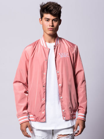 Young and Reckless Mens - Outerwear - Lightweight Jackets / Bombers Magistrate Bomber Jacket- Rose