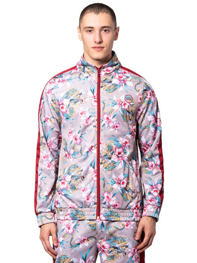 Young and Reckless Mens - Outerwear - Lightweight Jackets / Bombers Monstruo Track Jacket - Red/Pink