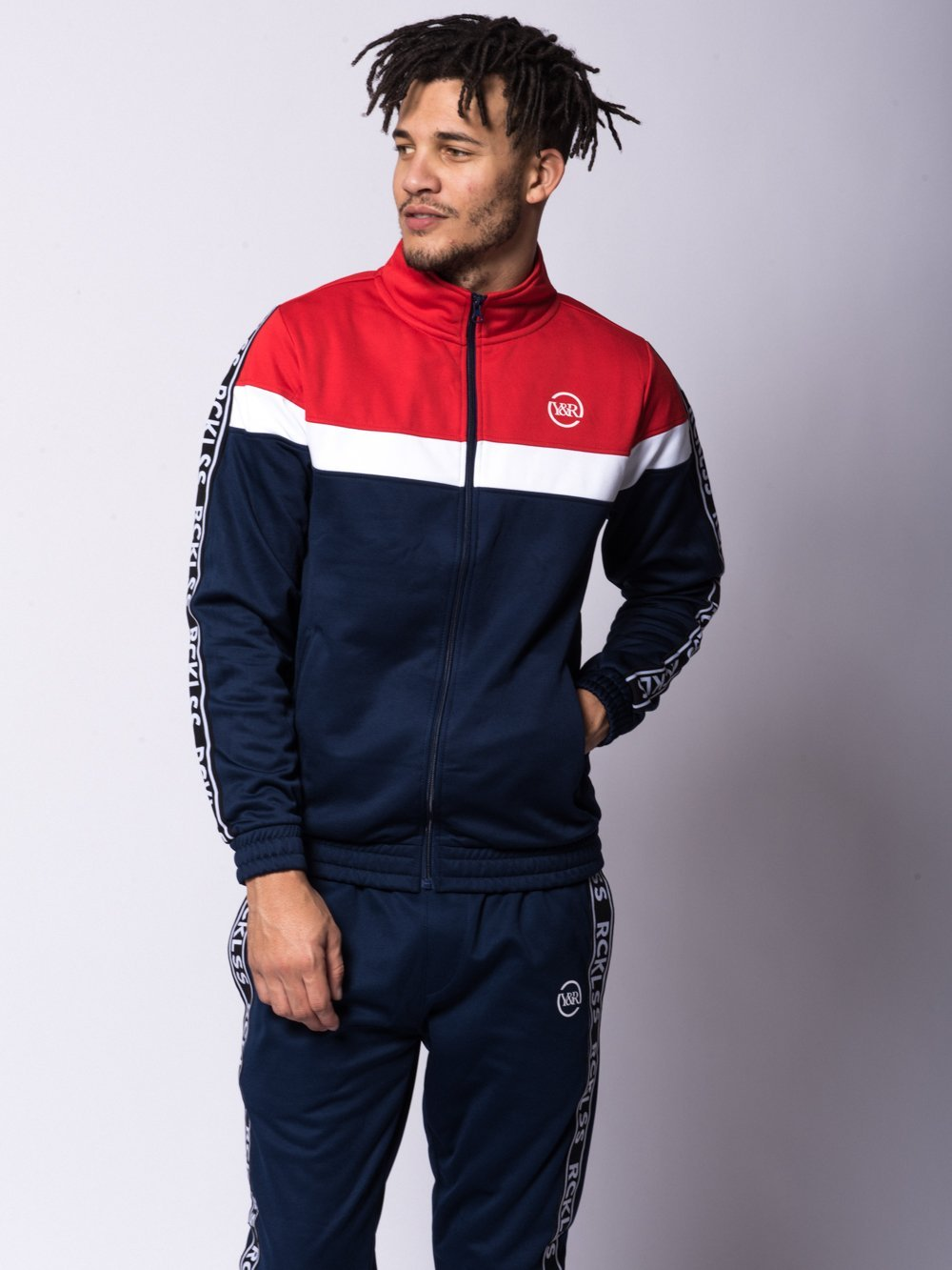 Young and Reckless Mens - Outerwear - Lightweight Jackets / Bombers Pursuit Track Jacket - Red/Bue