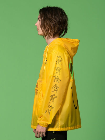 Young and Reckless Mens - Outerwear - Lightweight Jackets / Bombers RCKLSS X PRDY GNG Totally Tubular Windbreaker - Yellow