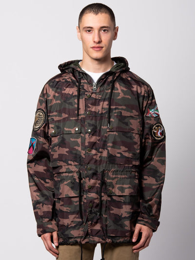 Young and Reckless Mens - Outerwear - Lightweight Jackets / Bombers Vandergrif Parka - Camo Green