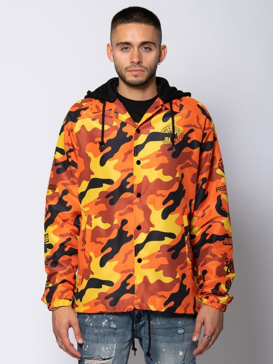 Outpost Coach Jacket - Orange Camo